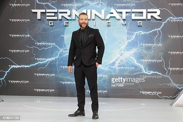 Jai Courtney attends the European premiere of 'Terminator Genisys' at the CineStar Sony Center on June 21 2015 in Berlin Germany