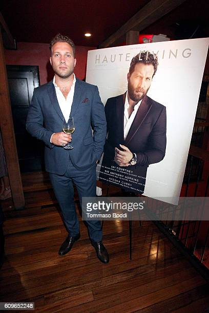 Jai Courtney attends the Haute Living cover celebration dinner for Jai Courtney presented by Tanquery at Republique on September 21 2016 in Los...