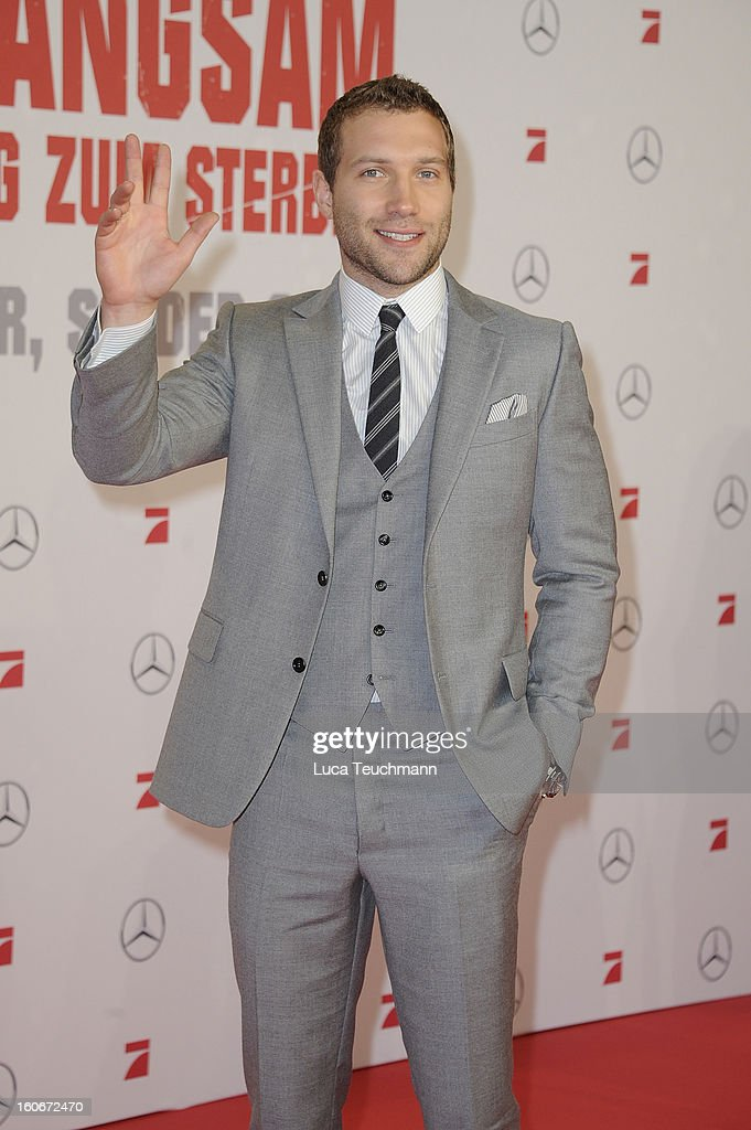 Jai Courtney attends the premiere of 'Die Hard - Ein Guter Tag Zum Sterben' at Sony Center on February 4, 2013 in Berlin, Germany.
