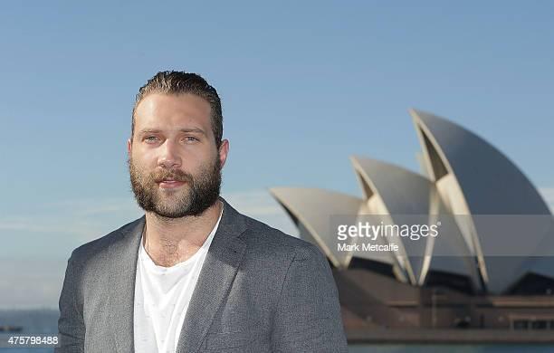Jai Courtney poses during a 'Terminator Genisys' photo call at the Park Hyatt Sydney on June 4 2015 in Sydney Australia