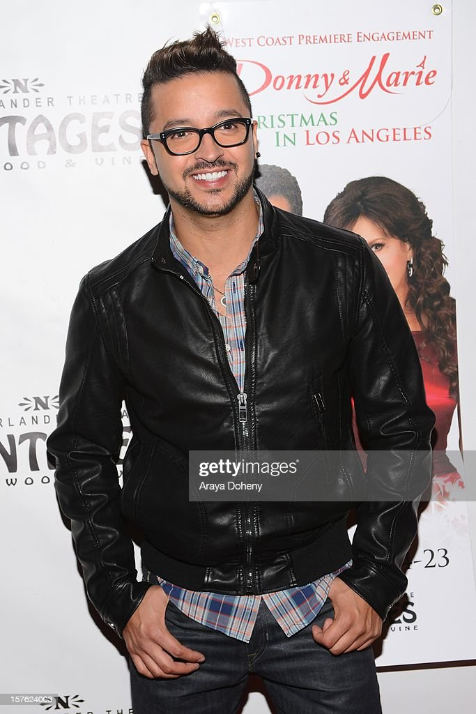 Jai Rodriguez arrives at the 'Donny & Marie Christmas In Los Angeles' - Opening Night Performance at the Pantages Theatre on December 4, 2012 in Hollywood, California.