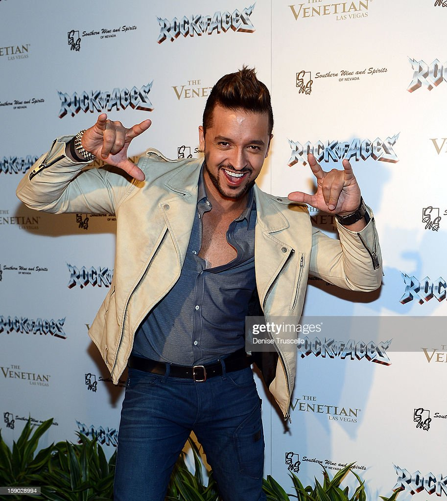 Jai Rodriguez arrives at the Rock Of Ages opening after party at The Venetian on January 5, 2013 in Las Vegas, Nevada.