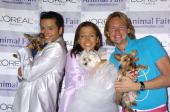 Jai Rodriguez Wendy Diamond and Carson Kressley with dogs Lucky Diamond Nemo and Dory