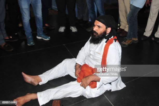 Jaikishan Rori who created ruckus in Vidhan Sabha removed by watch and ward staff of Punjab Vidhan Sabha on the order of Speaker Rana KP Singh at...