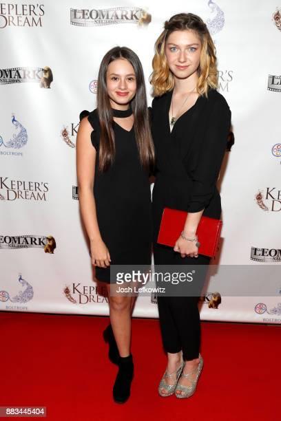 Jaime Adler and Isabella BlakeThomas attend the premiere screening of 'Kepler's Dream' at Regency Plant 16 on November 30 2017 in Van Nuys California