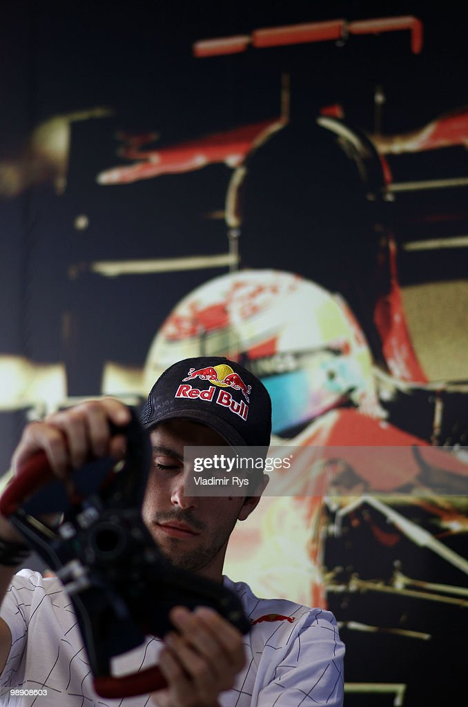 Jaime Alguersuari of Spain and Scuderia Toro Rosso is seen during practice for the Spanish Formula One Grand Prix at the Circuit de Catalunya on May 7, 2010 in Barcelona, Spain.