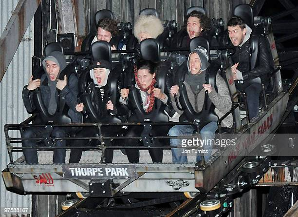 Jaime and Lois Winstone attend the launch of SAW Alive the World's most extreme live horror maze at Thorpe Park on March 9 2010 in Chertsey England