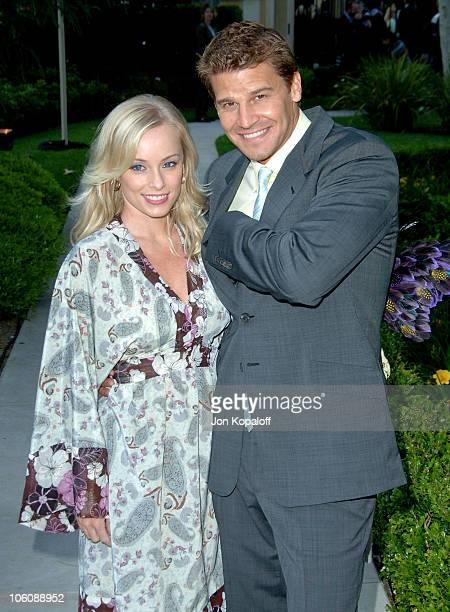 Jaime Bergman and husband David Boreanaz during Chrysalis' 5th Annual Butterfly Ball at The Italian Villa Carla Fred Sands in Bel Air California...