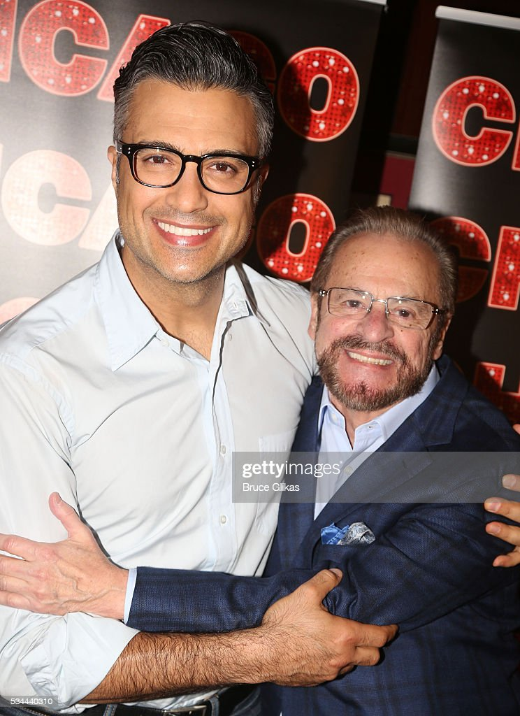 <a gi-track='captionPersonalityLinkClicked' href=/galleries/search?phrase=Jaime+Camil&family=editorial&specificpeople=580441 ng-click='$event.stopPropagation()'>Jaime Camil</a> and Producer <a gi-track='captionPersonalityLinkClicked' href=/galleries/search?phrase=Barry+Weissler&family=editorial&specificpeople=655882 ng-click='$event.stopPropagation()'>Barry Weissler</a> pose as Camil meets the press as he prepares to join 'Chicago' on Broadway as 'Billy Flynn' (from May 31-July 3) at The Algonquin Hotel on May 26, 2016 in New York City.