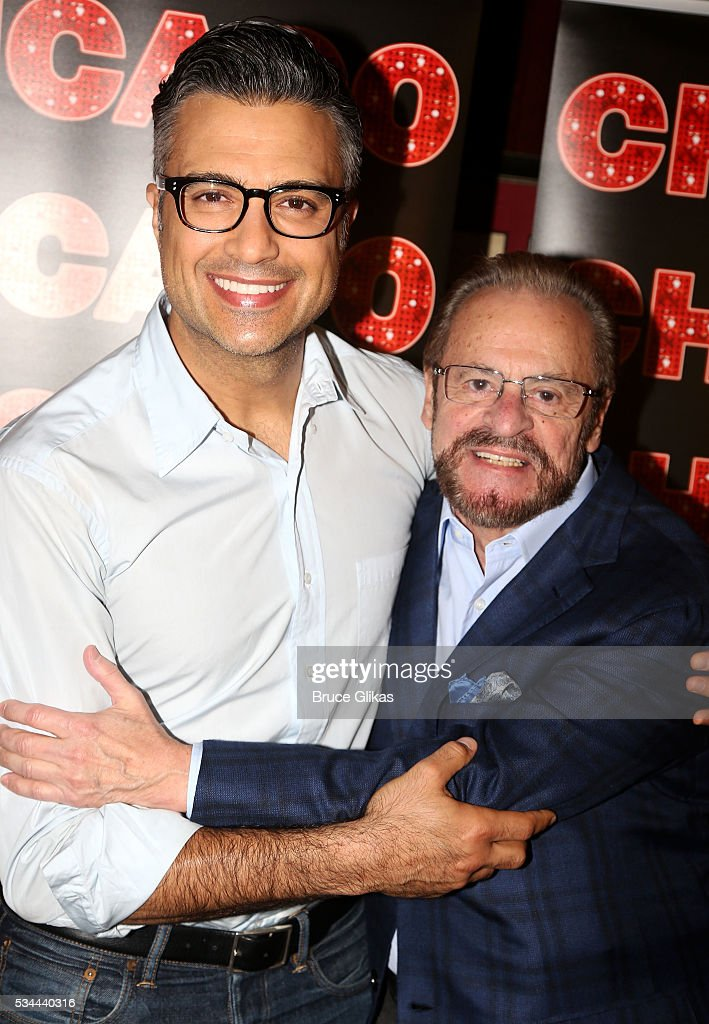 Jaime Camil and Producer Barry Weissler pose as Camil meets the press as he prepares to join 'Chicago' on Broadway as 'Billy Flynn' (from May 31-July 3) at The Algonquin Hotel on May 26, 2016 in New York City.
