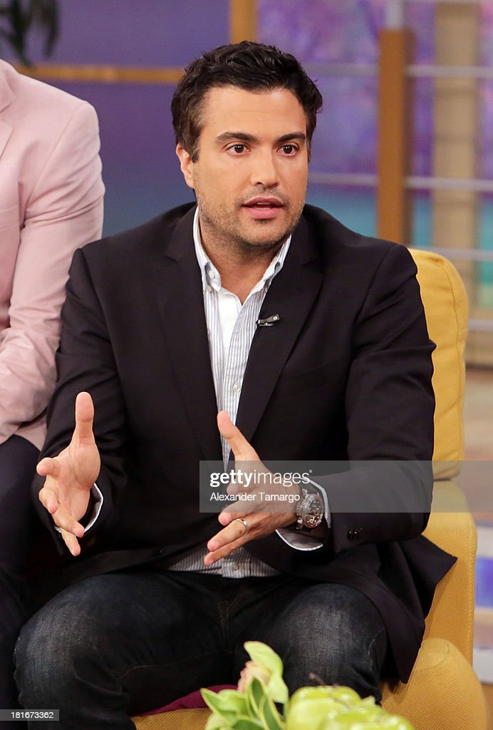 <a gi-track='captionPersonalityLinkClicked' href=/galleries/search?phrase=Jaime+Camil&family=editorial&specificpeople=580441 ng-click='$event.stopPropagation()'>Jaime Camil</a> is seen on the set of Univision's 'Despierta America' morning show at Univision Headquarters on September 23, 2013 in Miami, Florida.