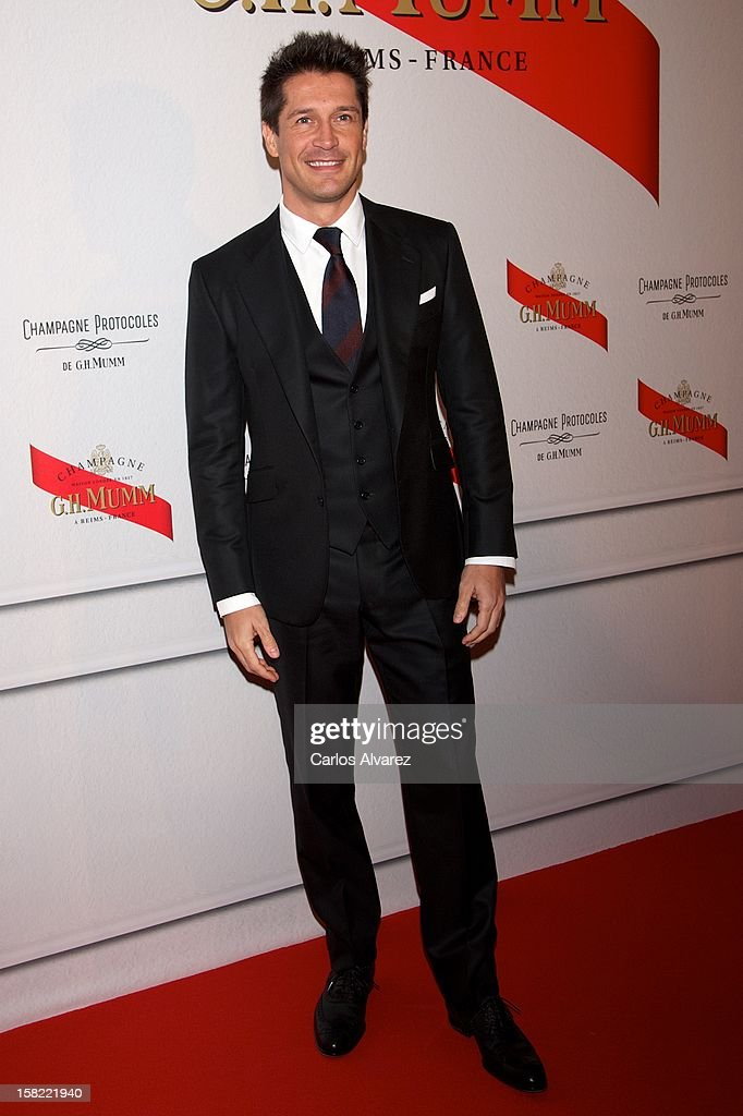 Jaime Cantizano attends the 'Maison Mumm' inauguration at the Santo Mauro Hotel on December 11, 2012 in Madrid, Spain.