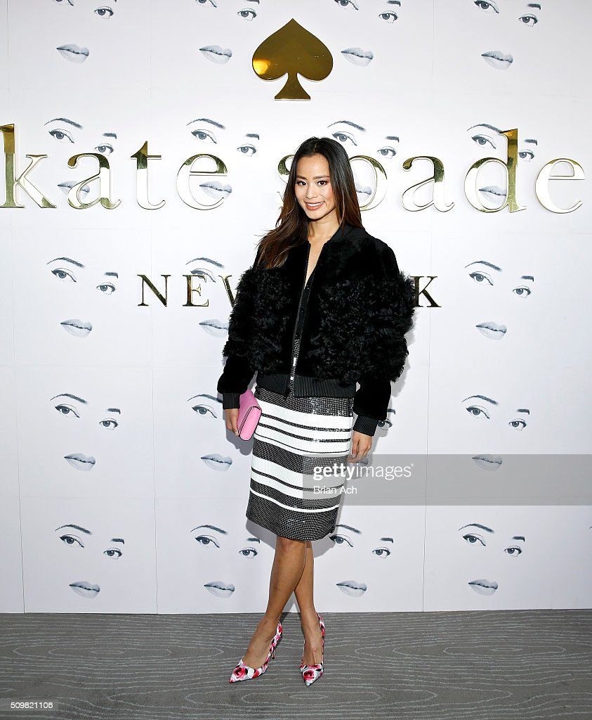 Jaime Chung is seen at the Kate Spade New York presentation during Fall 2016 New York Fashion Week at The Rainbow Room on February 12, 2016 in New York City.