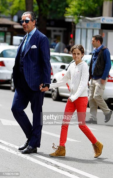 Jaime de Marichalar and her daughter Victoria Federica de Marichalar are seen on May 27 2013 in Madrid Spain
