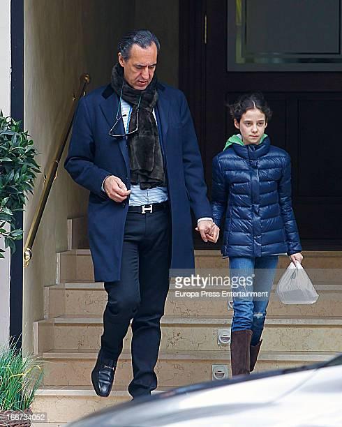 Jaime de Marichalar and his daughter Victoria Federica de Marichalar are seen on April 6 2013 in Madrid Spain