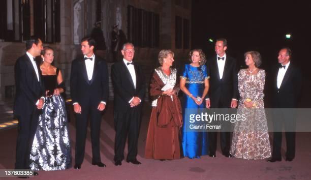 Jaime de Marichalar and his wife the Infanta Elena Crown Prince Felipe Juan Maria Urdangarin and his wife Claire Inaqui Urdargarin and his bride the...