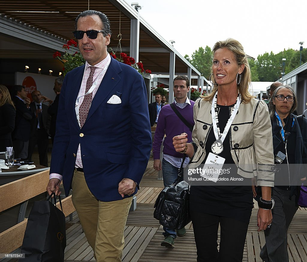 Jaime de Marichalar and Rosa Mairal (R) attend the ATP 500 World Tour Barcelona Open Banc Sabadell 2013 tennis tournament at the Real Club de Tenis on April 26, 2013 in Barcelona, Spain.