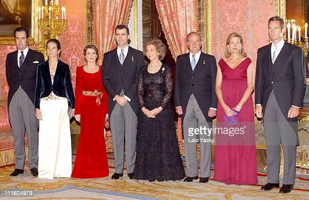 Jaime de Marichalar Elena of Spain Princess Letizia Crown Prince Felipe Queen Sofia King Juan Carlos Cristina of Spain and Inaki Urdangarin