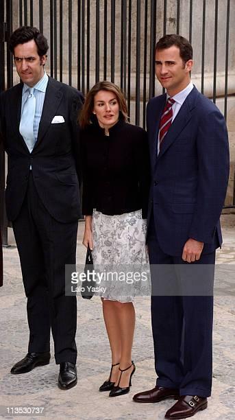 Jaime de Marichalar Felipe of Spain and Letizia Ortiz