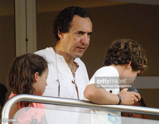 Jaime de Marichalar his daughter Victoria Federica and his son Felipe Juan Froilan are seen at the Santa Maria Polo Club on August 15 2011 in...