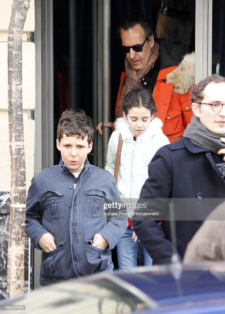 Jaime de Marichalar And Kids Sighting In Madrid - April 06 ... Felipe Juan Froilan