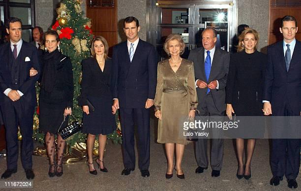 Jaime de Marichalar Infanta Elena Letizia Ortiz Rocasolano Felipe of Spain Queen Sofia King Juan Carlos Infanta Cristina and Inaki Urdangarin