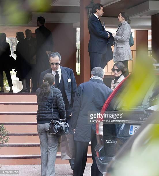 Jaime de Marichalar receives condolences on March 14 2014 in Madrid Spain Princess Elena of Spain's ex motherinlaw Count of Ripalda Concepcion Saenz...