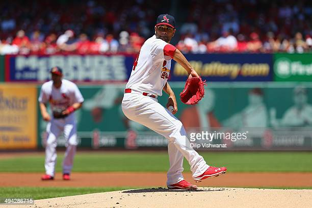Jaime Garcia of the St Louis Cardinals pitches against the Atlanta Braves at Busch Stadium on May 18 2014 in St Louis Missouri