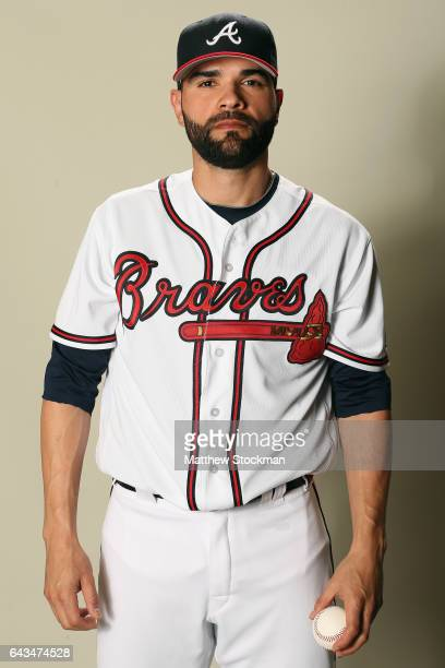 Jaime Garcia poses for a portrait during Atlanta Braves Photo Day at Champion Stadium on February 21 2017 in Lake Buena Vista Florida