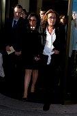 Jaime Hermida Mabi Hermida and Begona Fernandez attend the funeral chapel for the journalist Jesus Hermida at La Paz Morgue on May 05 2015 in Madrid...