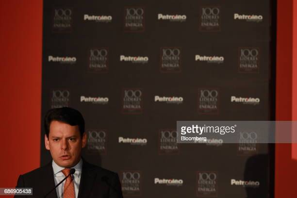 Jaime Hernandez chief executive officer of the Federal Commission of Electricity speaks during The 100 Energy Leaders annual meeting in Mexico City...