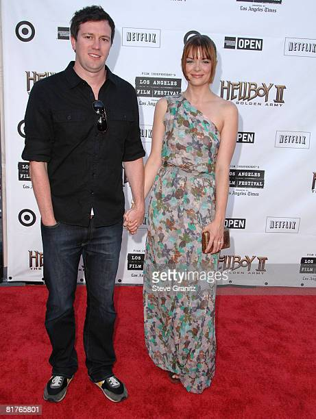 Jaime King and husband Kyle Newman 2008 Los Angeles Film Festival's 'HellBoy II The Golden Army' Premiere at the Mann Village Westwood Theater on...