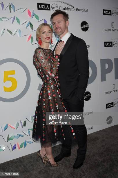Jaime King and Kyle Newman attend the UCLA Mattel Children's Hospital's Kaleidoscope 5 at 3LABS on May 06 2017 in Culver City California