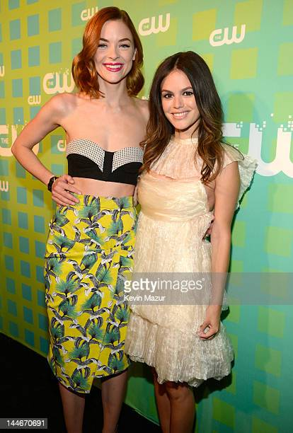 Jaime King and Rachel Bilson attend the CW Network's 2012 Upfront at The London Hotel on May 17 2012 in New York City