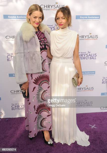 Jaime King and Rebecca Gayheart arrive at the 16th Annual Chrysalis Butterfly Ball at a private residence on June 3 2017 in Brentwood California