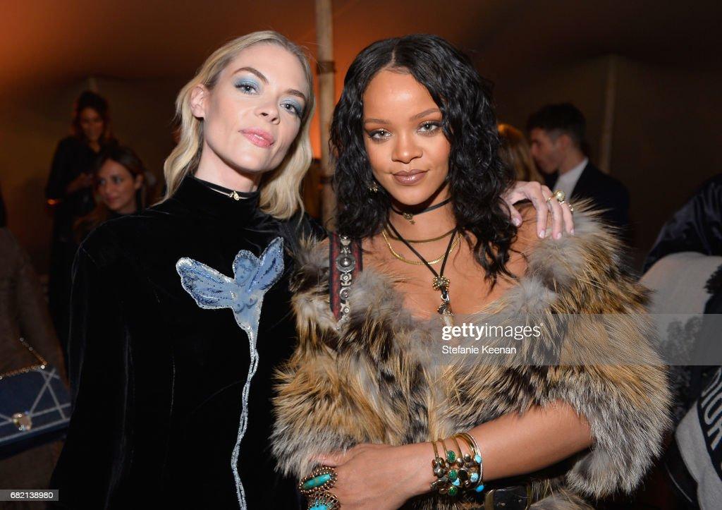 Jaime King and Rihanna at Christian Dior Cruise 2018 Show and After Party at Gladstone's Malibu on May 11, 2017 in Malibu, California.