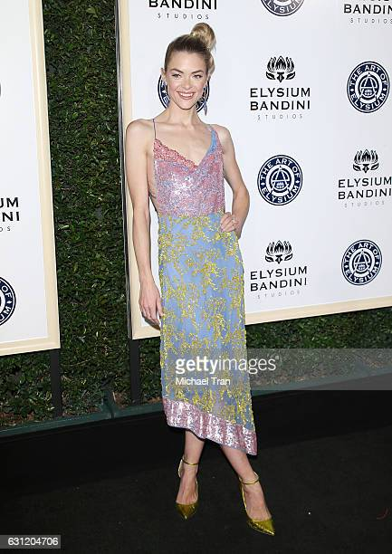 Jaime King arrives at The Art of Elysium celebrating the 10th Anniversary held at Red Studios on January 7 2017 in Los Angeles California