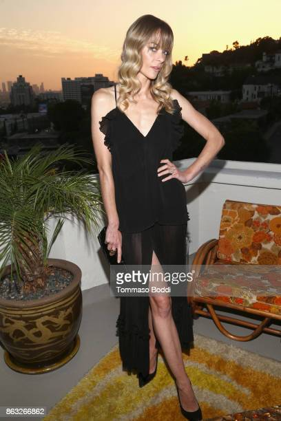 Jaime King at the Alice McCall SS18 launch event with campaign face Stella Maxwell at Chateau Marmont on October 19 2017 in Los Angeles California