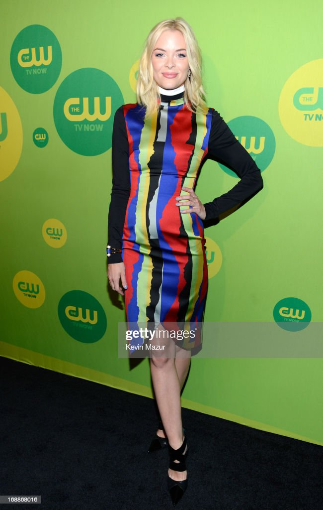 <a gi-track='captionPersonalityLinkClicked' href=/galleries/search?phrase=Jaime+King+-+Actriz&family=editorial&specificpeople=206809 ng-click='$event.stopPropagation()'>Jaime King</a> attends the CW Network's 2013 Upfront at The London Hotel on May 16, 2013 in New York City.