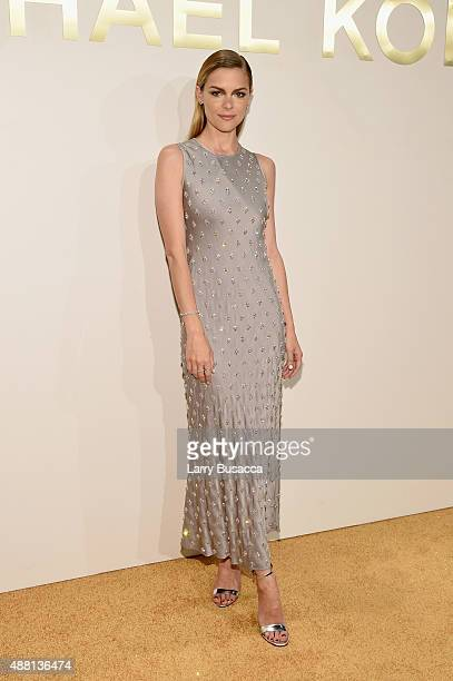 Jaime King attends the new Gold Collection fragrance launch hosted by Michael Kors featuring Duran Duran at Top of The Standard Hotel on September 13...