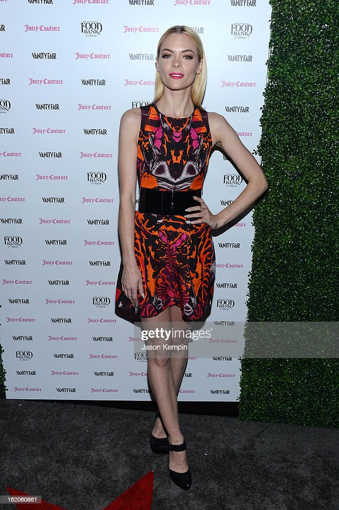 Jaime King attends the Vanity Fair And Juicy Couture Celebration Of The 2013 Vanities Calendar With Olivia Munn at Chateau Marmont on February 18, 2013 in Los Angeles, California.