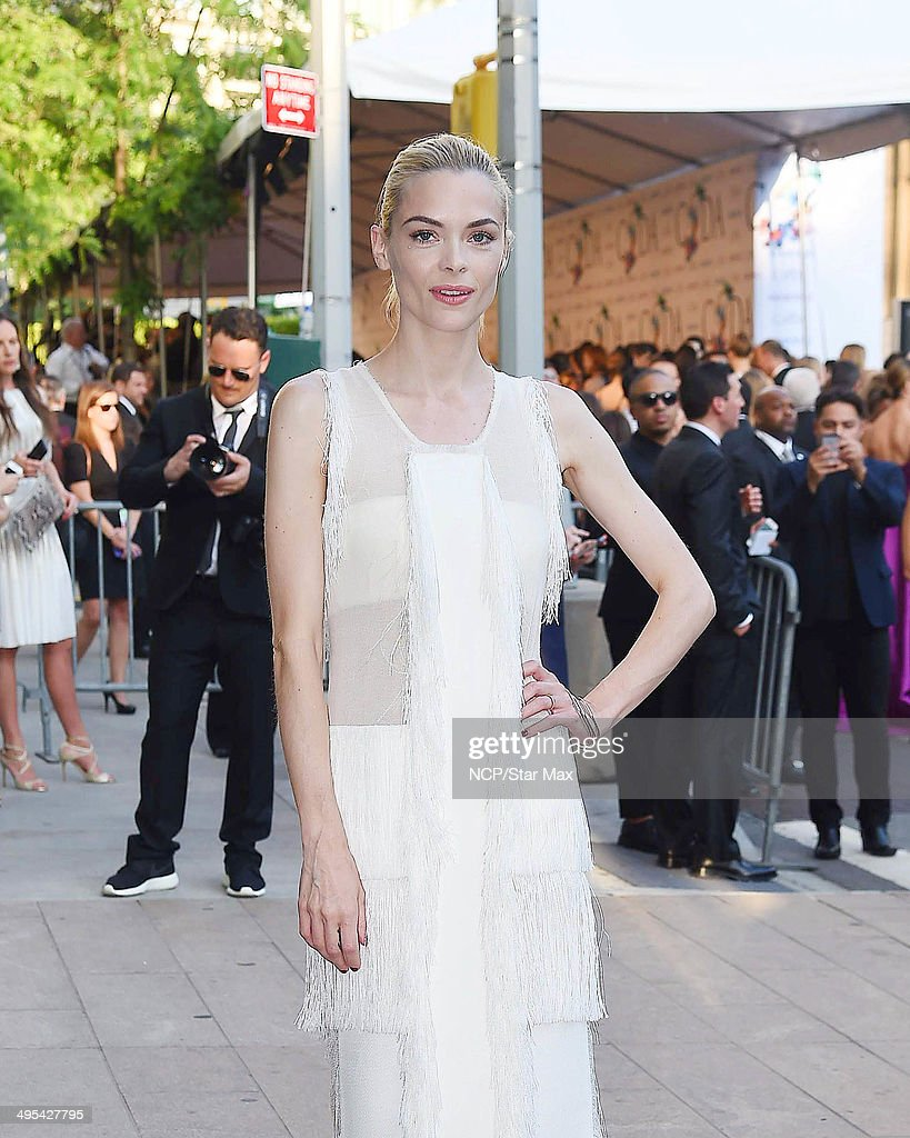 Jaime King is seen on June 2, 2014 arriving at The 2014 CFDA Fashion Awards in New York City.