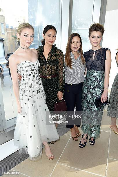 Jaime King Jamie Chung Monique Lhuillier and Sami Gayle attend the Monique Lhuillier fashion show during New York Fashion Week September 2016 at The...