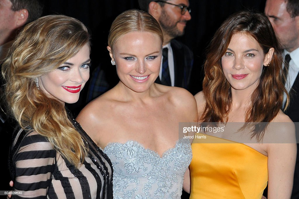 Jaime King, Malin Akerman and Michelle Monaghan arrive at the 2016 Weinstein Company and Netflix Golden Globes After Party on January 10, 2016 in Los Angeles, California.