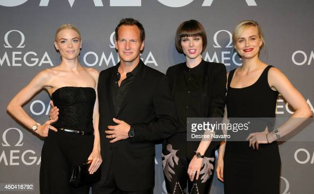 Jaime King Patrick Wilson Coco Rocha and Taylor Schilling attend the OMEGA Speedmaster Dark Side of the Moon launch at Cedar Lake on June 10 2014 in...
