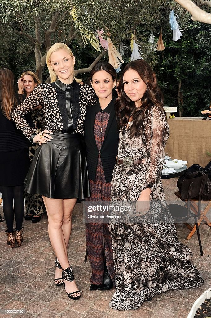 Jaime King, Rachel Bilson and Nicole Chavez attend ShoeMint Celebrates 1 Year Anniversary With Rachel Bilson And Nicole Chavez at Laurel Hardware on November 10, 2012 in West Hollywood, California.