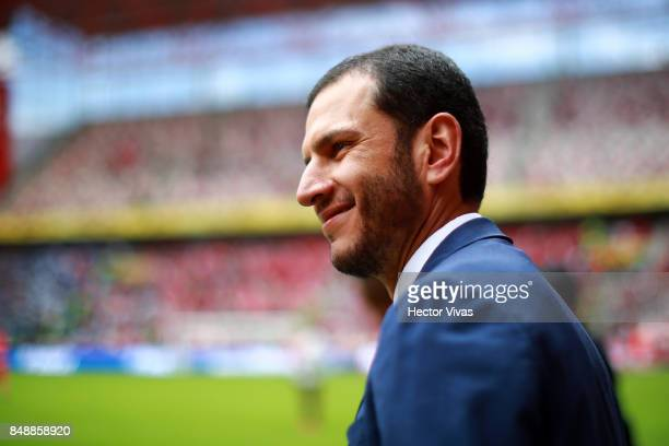 Jaime Lozano coach of Queretaro looks on during the 9th round match between Toluca and Queretaro as part of the Torneo Apertura 2017 Liga MX at...