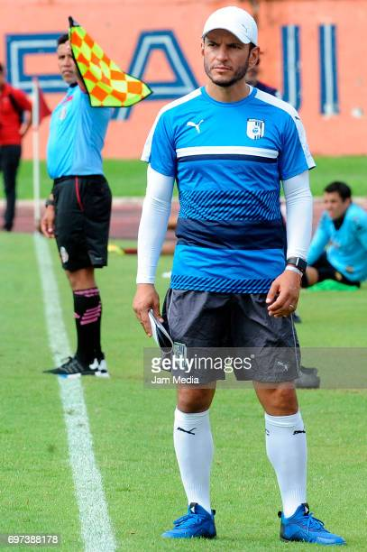 Jaime Lozano coach of Queretaro looks on during the Pre Season training match for the Torneo Apertura 2017 Liga MX between Atlante and Queretaro at...