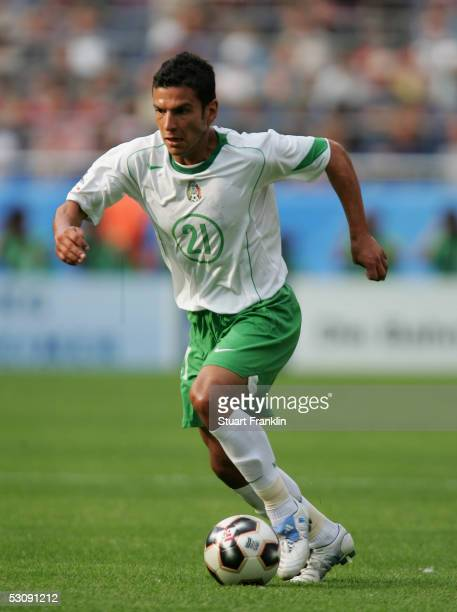 Jaime Lozano of Mexico in action during The FIFA Confederations Cup Match between Japan and Mexico at The AWD Arena on June 16 2005 in Hanover Germany