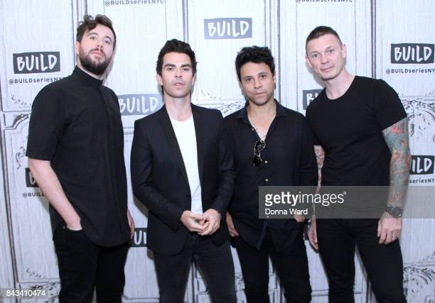 Jaime Morrison Kelly Jones Adam Zindani and Richard Jones of Stereophonics appear to promote 'Scream Above The Sounds' during the BUILD Series at...